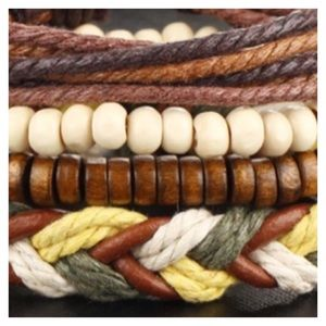 NEW 4 Bracelets Stackable Separate Jewelry Boho